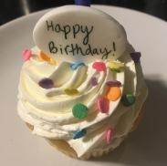 Confetti Cupcake to kick off the boyfriend's birthday